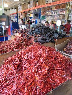 Mercado de Chiles bien pinches picosos !!!