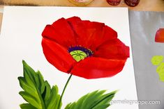 How to Paint a Large Red Poppy,
