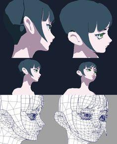 Character Design Tutorial, Character Design Animation, 3d Animation, Character Design Inspiration, 3d Model Character, Character Modeling, Character Drawing, Blender 3d, Face Topology
