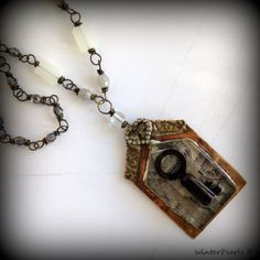 Key to The Castle Statement Necklace   Vintage by WinterPearls, $115.00