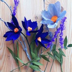 Beautiful flowers from 🌿the CREPE PAPER to make these flowe. by Paper Canada Crepe Paper Crafts, Crepe Paper Flowers, Blue Lagoon, Blue Flowers, Paper Art, Beautiful Flowers, Diy And Crafts, Easy Diy, Flora