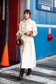 Street style at New York Fall-Winter Fashion Week 2018-2019 Photo credit: Sandra Semburg