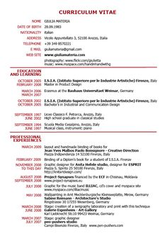 Resume Cv Layouts Free CV Resume Template Download Word And PDF     Pinterest