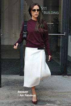 Fabulously Spotted: Victoria Beckham Wearing Victoria Beckham - Out & About In New York - http://www.becauseiamfabulous.com/2014/02/victoria-beckham-wearing-victoria-beckham-out-about-in-new-york-2/
