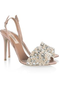valentino crystal embellished sandals