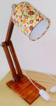 Luminária de madeira!