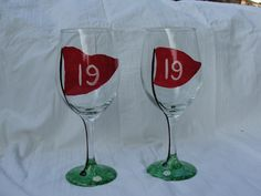 Hand Painted Glasses | Decorative | Personalized Wine Glass