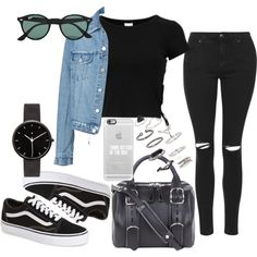 Untitled #304 by charlotte-down on Polyvore featuring polyvore, fashion, style, Topshop, Vans, Alexander Wang, I Love Ugly, Casetify, Ray-Ban and clothing