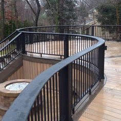 Decks.com. Deck Idea Pictures. Like the idea of the lower level fire pit with the deck wrapping it