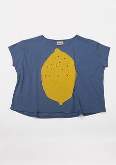bobochoses T-shirt S/S large fit Lemon