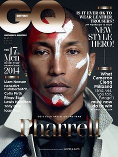 Pharrell Williams is GQs Artist of The Year, maybe next year Pharrell will be man of the Year