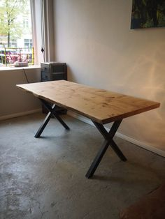 Industrial-style table