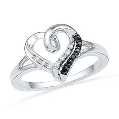 Sterling Silver Black And White Round Diamond Heart Ring (1/20 cttw) D-GOLD http://www.amazon.com/dp/B006HGIO54/ref=cm_sw_r_pi_dp_wxxovb0QMPQQJ