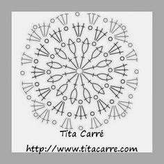Tita Carré Agulha e Tricot : Colcha com Quadrados Diagonais Coloridos em crochet