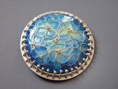 Ashley Gilreath: 2011  sterling silver, fine silver, cloissone enamel