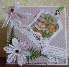 Voorbeeldkaart - hartelijk gefeliciteerd - Categorie: Scrapkaarten - Hobbyjournaal uw hobby website