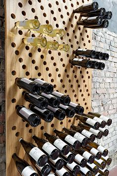 - Weinregal … Wine rack more - Wine Rack Design, Wine Cellar Design, Wine Shelves, Wine Storage, Storage Ideas, Bar Shelves, Butler Pantry, Wine Rack Inspiration, Home Wine Cellars