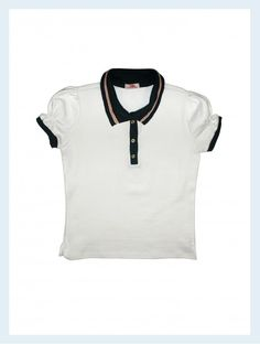 5b58974db7 Polo Navy Branca Ludu - Camisa polo com ótimo toque