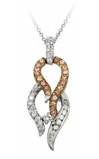 Exxotic Love Theme Genuine 92.5 Sterling Silver and American Diamonds Pendant