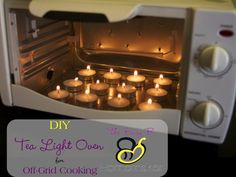 DIY Tea Light Oven for Off-Grid Cooking (via The Busy B Homemaker) -- This looks like an awesome cheap powerless cooking option!