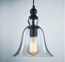 Modern New Glass Ceiling Light Chandelier Vintage Lamp Pendant Lights Fixture