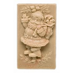 Molde Navidad, pastilla de jabón Papá Noel con Regalitos