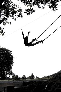 On the flying trapeze! Summer camp for grownups, what do you think?