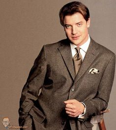 If the groom would agree to wearing a suit, this is it. Relaxed fit, nothing too fancy. Actors Male, Actors & Actresses, Encino Man, Brendan Fraser, Men Are Men, Evolution Of Fashion, Attractive Men, Good Looking Men, Best Actor