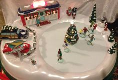 Mr Christmas Rock N' Roll Animated Skating Rink No Box All There Works Great | eBay