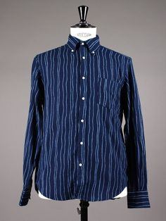 R. Indigo Oxford Rope Print by Gant Rugger from Aplace.com