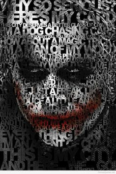 Joker face with quotes amazin