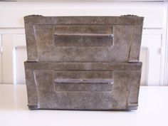 Vintage Industrial Stacking Boxes