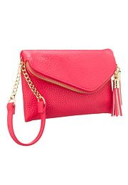 Small zip flap wristlet with tassels - maurices.com  to go with blazer and same colored shirt