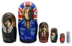 Matryoshka nesting doll The Beatles 5 pc | ArtMatryoshka - Toys & Hobbies on ArtFire