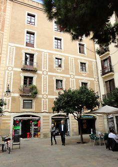 """See 433 photos from 3332 visitors about cappuccinos and church. """"Nice plaza with lots of food and drink options, peaceful location"""" Barcelona, Street View, Past Tense, Palaces, Street, Buildings, Barcelona Spain"""