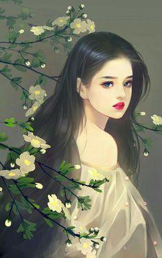 Beautiful women images in art Beautiful Fantasy Art, Beautiful Anime Girl, Beautiful Women, Fantasy Kunst, Anime Fantasy, Lovely Girl Image, Girly Drawings, Arte Disney, Painting Of Girl