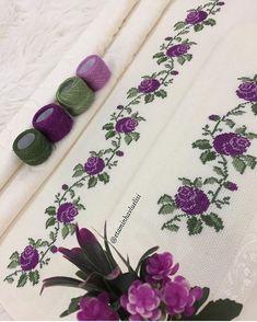 Cross Stitch Borders, Cross Stitch Designs, Cross Stitching, Cross Stitch Patterns, Hand Embroidery Design Patterns, Palestinian Embroidery, Brazilian Embroidery, Color Harmony, Bargello
