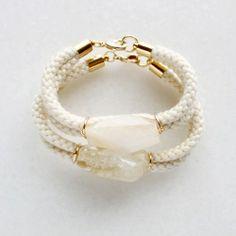 Citrine and Rope Bracelet
