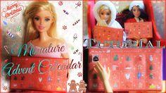 Tutorial : how to make a miniature advent calendar for dolls 🍬🎀🍬