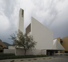 crystalline protrusions define moneo brock designed church