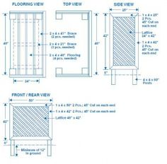 DIY: Trash Can Screen Plans. Hide unsightly trash cans from the curb. There's also the added bonus of the trash cans not flying into your neighbor's yard during the next wind storm.oh, Nick! Hide Trash Cans, Outdoor Trash Cans, Air Conditioner Screen, Backyard Patio, Backyard Ideas, Garden Ideas, Privacy Screen Outdoor, Outdoor Projects, Outdoor Ideas