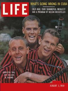 """The Kingston Trio ~ August 3, 1959 issue ~ Old Life Magazines ~ Click image to purchase. Enter """"pinterest"""" at checkout for a 12% discount."""