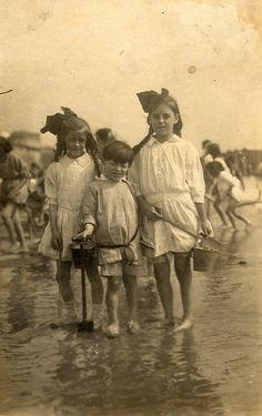 Three siblings in Ramsgate, August 1921
