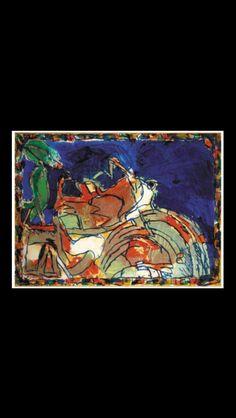 """Pierre Alechinsky - """"Lopin individuel"""", 1980 - Acrylique sur papier marouflé sur toile - 115 x 155 cm (*)"""