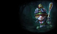 I don't play as him, but this is who my kitty cat is named after =) Teemo - League of Legends