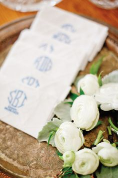 monogrammed hankies | Harwell Photography #wedding