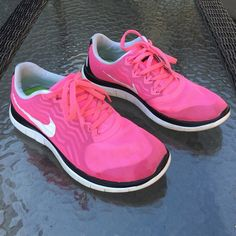 Nike Barefoot Ride 4.0 Size 9 Pink Tennis Shoes Nike Barefoot Ride 4.0 Women's Tennis Shoes. Size 9. Pink with Pink Laces. Slightly worn, but good condition. Nike Shoes Sneakers