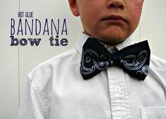 hot glue bandana bow tie - I know Max would love a puppy bandana bow tie!