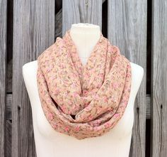Super Sweet Infinity Scarf  Floral Print Lace  by TomieHarlene, $18.00
