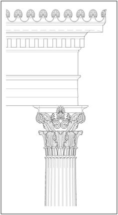 ~ Living a Beautiful Life ~ The Corinthian order at the Choragic Monument of Lysicrates. Classical Architecture, Ancient Architecture, Architecture Art, Corinthian Order, Pillar Design, Hallway Art, Watercolor Jellyfish, Wood Carving Designs, Architectural Features